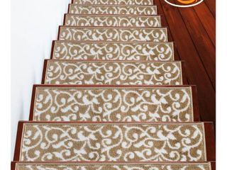 SUSSEX HOME leaves Collection Stair Treads 100  Polypropylene 9 x28
