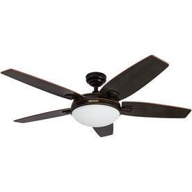 Honeywell Carmel Oil Rubbed Bronze Ceiling Fan with Integrated light and Remote   48 inch Retail 118 49