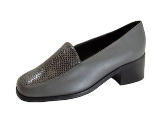 PEERAGE Zula Women s Wide Width leather Animal Print Slip on Shoes GRAY 7 5