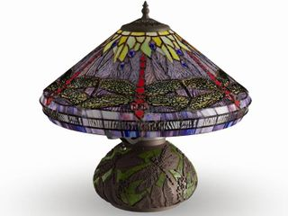 The Curated Nomad Pablo Tiffany style Dragonfly Table lamp Retail 119 01