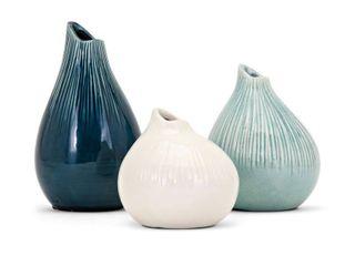 Imax Stein Vases   Set of 3