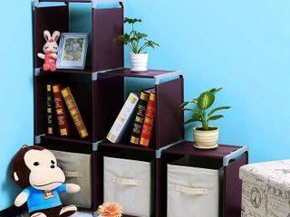 3 Tier 6 9 Grids Storage Closet Organizer Bookcase Bookshelf