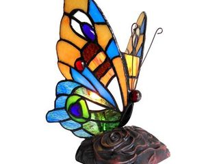 Tiffany Style Butterfly Design 1 light Accent lamp