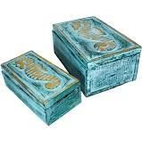 The Curated Nomad Bali Sweet Seahorses 2 piece Wooden Box Set