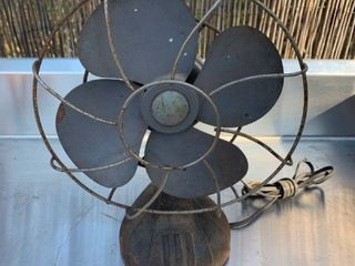 Small Antique 2 Speed Metal Fan Working location Back Storage