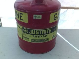 Nice Justrite Gasoline Safety Can In Excellent Condition
