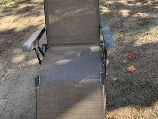 Outdoor Folding lounge Chair location Front Storage