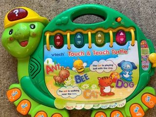 Vtech Touch And Teach Turtle Works location Front Storage