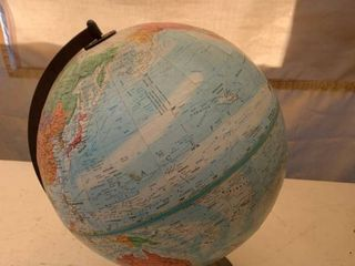 Globemaster 12 Inch Diameter Globe of Earth location Front Storage