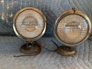 Pair of Neat Vintage Head lamps location Front Storage
