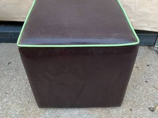 Contemporary Home Cube leather Ottoman location Front Storage