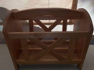 Wooden Magazine Rack location Front Storage