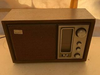 Sony Model No  ICF 9650W AM FM 2 Band Radio Works location Front Storage