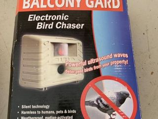 Balcony Gard Electronic Bird Chaser location Front Storage