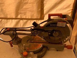 Terratek 10 Inch Sliding Mitre Saw Works location Front Storage