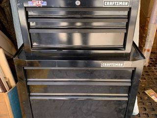 2 Piece Craftsman Stacking Tool Chest location Front Storage