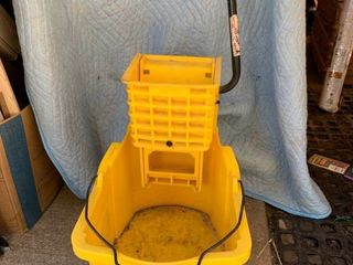 Yellow Rubbermaid Mop Bucket location Front Storage
