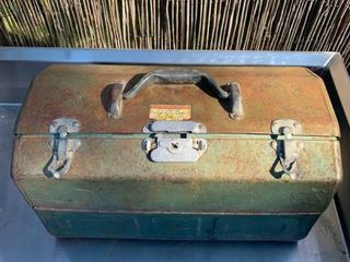 Vintage Walton Grip loc Tool Tackle Box location Back Storage