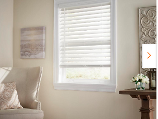 levolor 2 5 in White Faux Wood Blinds 35 X72