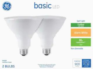 GE Basic lED Flood light Color Warm White  2 bulbs