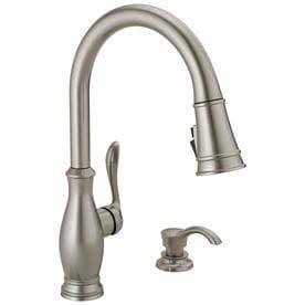 Delta Zalia Spotshield Stainless 1 Handle Deck Mount Pull down ShieldSpray Kitchen Faucet   Not Inspected