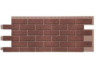 Novik Stone Hl   18 5 in  x 48 in  Hand laid Brick in Red Used Blend  46 sq  ft  per Box  Vinyl Siding  Brown