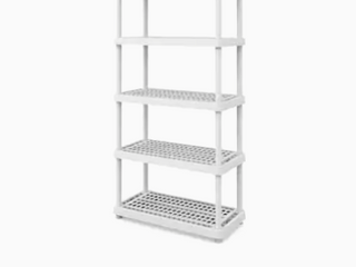 Heavy Plastic 5 Tier Work Shop Shelf    35 1 2 x 17 1 2     Not Inspected