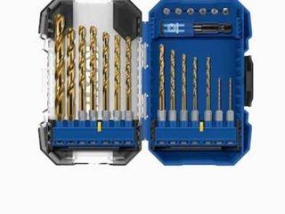 Kobalt 21 Piece Assorted Titanium Twist Drill Bit Set