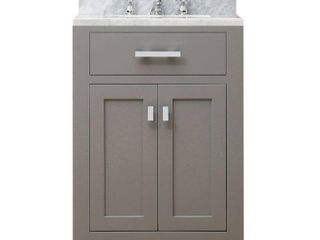 Water Creation Madison 24G 24  Cashmere Grey Single Sink Bathroom Vanity