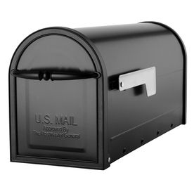 Architectural Mailboxes 6 5 8 in x 8 3 4 in Metal Black Post Mount Mailbox