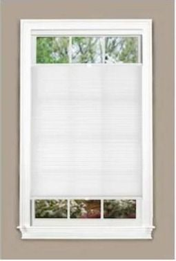 allen   roth Top Down Bottom Up Recycled 27 in x 72 in White light Filtering Cordless Cellular Shade