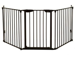 Dreambaby Newport Adapta gate 3 panel 79 x29  Black l2021 Any Angle Auto close