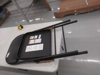 metal folding chair with cushioned seat  DAMAGED