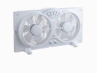 Utilitech 9 in 3 Speed Indoor White Painting Window Fan