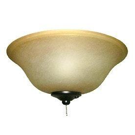 harbor breeze 2 light black bronze incandescent ceiling fan light kit with alabaster glass or shade   Not Inspected