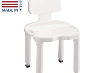 Carex Bath Seat And Shower Chair With Back For Seniors  Elderly  Disabled  Handicap  and Injured Persons  Supports Up To 400lbs