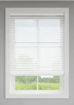 levolor Trim go 2 in Cordless White Faux Wood Room Darkening Blinds   36  X 64   Not Inspected