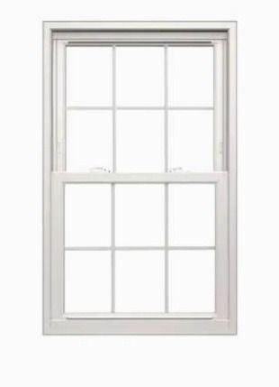 ThermaStar by Pella 31 5 in x 53 5 in Vinyl Replacement White Double Hung Window
