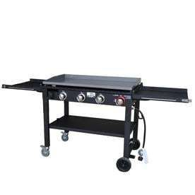 Blue Rhino Razor Black Powder Coated 4 Burner liquid Propane Gas Griddle Grill   Not Inspected