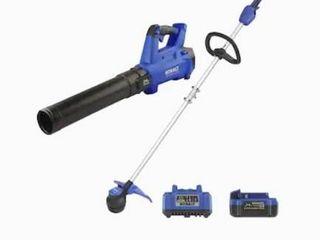 Kobalt 24v Max Brushless Cordless Blower   String Trimmer Combo Kit 856457 BATTERY not included