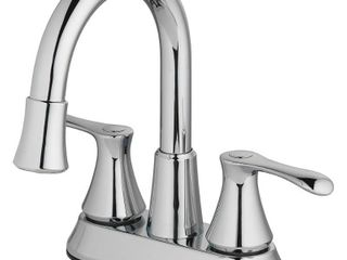 Homewerks Worldwide lED Aerator Chrome 4  Centerset Bathroom Faucet 21 B42WYHW Z