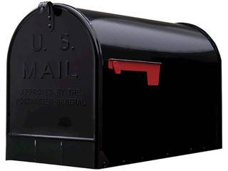 Gibraltar Extra large Steel PostMount Mailbox Black DAMAGED