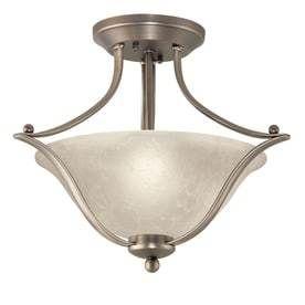 Portfolio Alabaster Glass Semi Flush Mount light