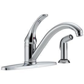 Delta low Arc Kitchen Faucet w  Side Spray