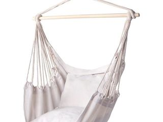 Y Stop Hammock Chair Hanging Rope Swing w  Cushions