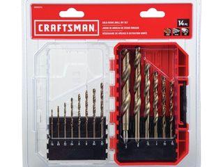 Craftsman 14 Piece Gold Oxide Drill Bit Set W  Hard Case