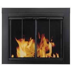 Pleasant Hearth AT 1001 Ascot Medium Fireplace Glass Door