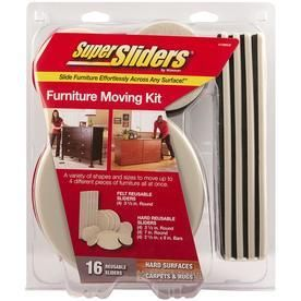 Waxman Assorted Non Adhesive Hard Surface Furniture Sliders   16 Pack