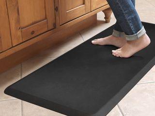 Designer Comfort leather grain Anti fatigue Floor Mat