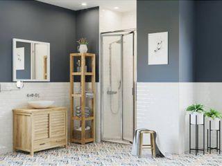 Coastal Shower Doors Paragon Framed Bi Fold Double Hinged Shower Door